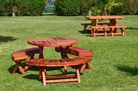 round folding picnic table options 42 folding arc benches redwood