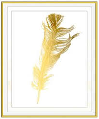 faux gold leaf feather wall art gold foil feather by roseandelaine on gold leaf feather wall art with diy gold leaf feather art feathers leaves and gold