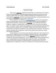 ap psychology course hero 1 page sample quiz paper grade 100%