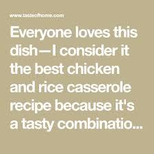 Chicken and Rice Casserole   Recipe in 2020   Rice casserole, Casserole  recipes, Rice casserole recipes