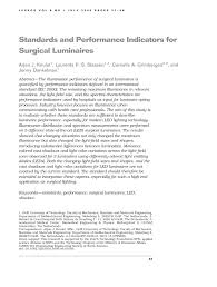 Iec Lighting Levels Pdf Standards And Performance Indicators For Surgical