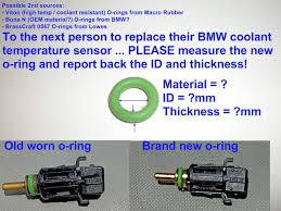 diy temp sensor coolant leak repair bmw forums
