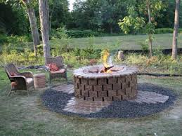 outdoor brick fire pit