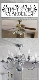 a simple chandelier makeover using a chandelier found at a thrift it replaced a