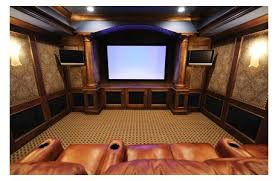 Theater room lighting Seating Beautiful Wood And Leather Home Theater Winrexxcom Building Home Theater Comfort Lighting Seating And Sound By