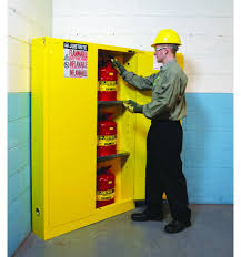 Yellow Flammable Cabinet Justrite Flammable Safety Cabinet 45 Gal Yellow Cabinets Matttroy