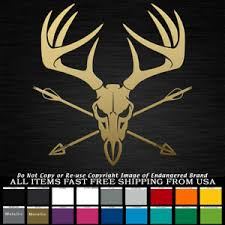 Details about Antlers Skull Arrows Bow Hunter horns Buck hunting decal sticker