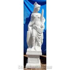 garden marble stone woman warrior