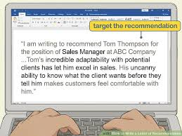 Whats A Personal Reference How To Write A Letter Of Recommendation 14 Steps With