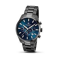 accurist watches men debenhams accurist men s gun mental bracelet blue dial chronograph watch 7137 01
