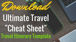 Another Word For Itinerary Is Travel Itinerary Template Keep Your Trip Organized With A