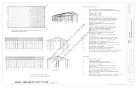 Sample Plan Download Free Sample Pole Barn Plans G24 24' X 24' 24' Pole Barn 17