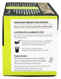 bigelowgreen tea with lemon decaffeinated tea bags 91 oz box walmart
