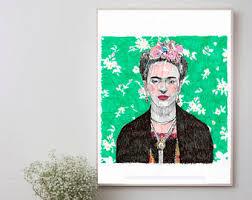 Arredamento Vintage Pop Art : Frida kahlo pop art poster etsy it
