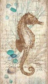 vintage seahorse and sea glass wall art on large metal seahorse wall art with bermuda tropical shell art ii pinterest shell art