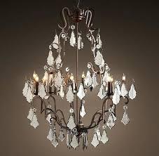 restoration hardware mercury glass chandelier large my florian crystal