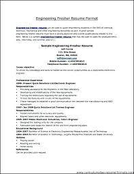 Mechanical Engineering Resume Format Resume Template Mechanical
