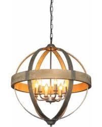 round pendant lighting. Round Metal And Wood Pendant Light With 6 Lights Lighting
