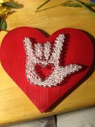 I Love You Crafts Nail And String Art Asl I Love You Crafts Pinterest String