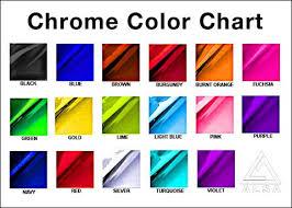 Vinyl Wrap Color Chart Stretch Chrome Wrap Material By Alsa Corp Color Chart