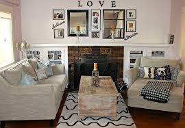 scenic small living room design with diy arrangement decorating