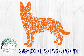 You can copy, modify, distribute and perform the work, even for commercial purposes, all without asking permission. German Shepard Dog Mandala Animal Pet Graphic By Wispywillowdesigns Creative Fabrica