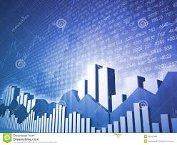 Free Stock Market Charts And Graphs Low Angle Stock Market Bars Charts Stock Illustration
