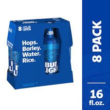 16 Ounce Bud Light Bud Light Beer 8 Pack Beer 16 Fl Oz Bottles Walmart Com