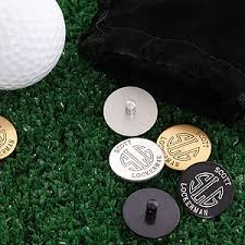 ball markers. personalized golf ball markers set with initial monogram - 2190d h