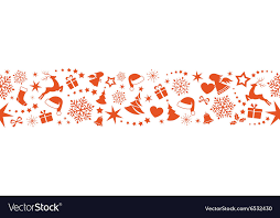 Christmas Ornaments Border Seamless Christmas Border With Ornaments