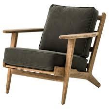 mid century club chair. Wonderful Mid MidCentury Modern Dark Green Upholstered Oak Club Chair For Mid Century E