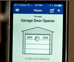open garage door with phoneControl Your Existing Garage Door from Anywhere Using Your