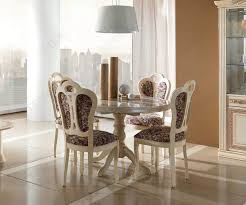 mcs pamela cream round extension table with 4 vittoria chairs