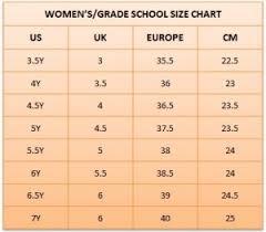 Actual Basketball Shoe Size Chart Pretty Shoes Size Us
