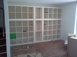 Wall fitted expedit book shelf IKEA Hackers