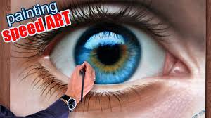 how to draw a realistic eye painting in dry brush sd drawing malen zeichnen you