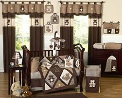 teddy bear crib sheet amazon com sweet jojo designs 9 piece chocolate brown teddy bear