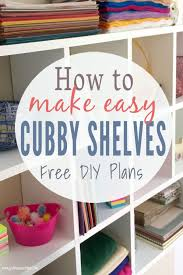 how to build diy cubby shelves that