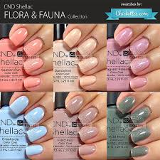 Cnd Shellac Flora Fauna Collection Swatches Chickettes