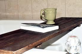 cool bathtub caddy rustic bath caddy