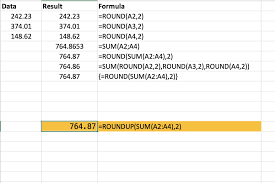 Excel Round Formulas How To Combine The Round And Sum Functions In Excel
