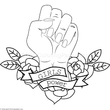 Girl Power Coloring Pages At Getdrawingscom Free For Personal Use