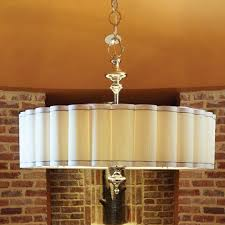 contemporary drum lighting. Fluted Enormous Six-Light Pendant Contemporary Drum Lighting
