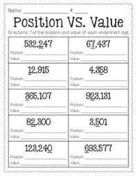 Place Value Chart 4th Grade 53 Best Place Value Chart Images In 2019 Place Values