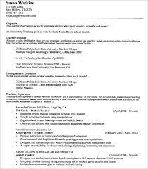 Teacher Resume Objectives Spanish Teacher Resume Objective New Word For Resume In Spanish Fius