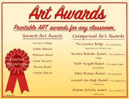 Certificates Printable Art Award Certificates Printable Colorful Several Categories To Choose From