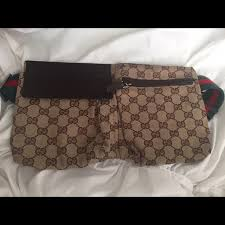 gucci bags used. used authentic gucci gg canvas belt bag/fanny pack bags