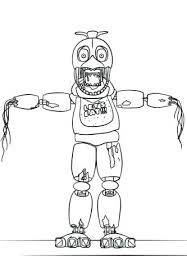 Fnaf Coloring Pages Nightmare Golden Freddy Auchmar