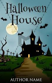 horror book cover design house front