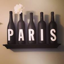 Parisian Bedroom Decorating Paris Themed Decor Winebottles Paris Diy Half Bath